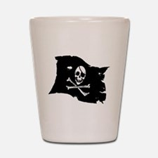 Pirate Flag Tattoo Shot Glass