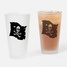 Pirate Flag Tattoo Drinking Glass