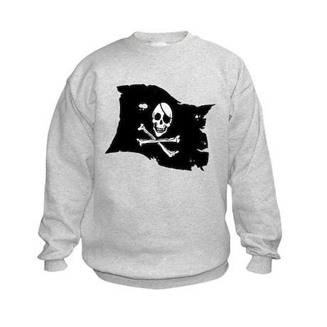 Pirate Flag Tattoo Kids Sweatshirt