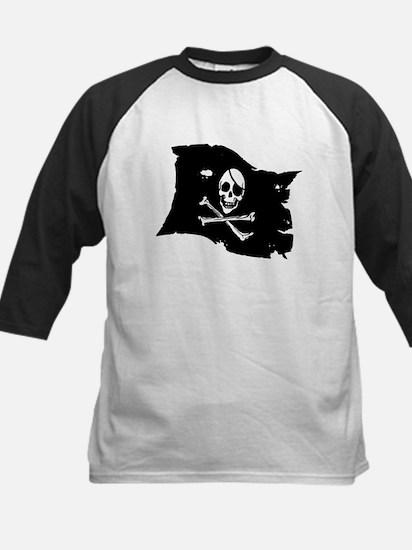 Pirate Flag Tattoo Kids Baseball Jersey
