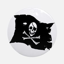 Pirate Flag Tattoo Ornament (Round)