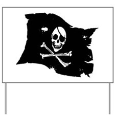 Pirate Flag Tattoo Yard Sign