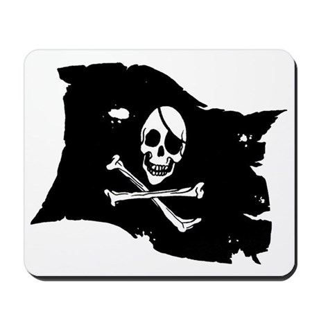 Pirate Flag Tattoo Mousepad