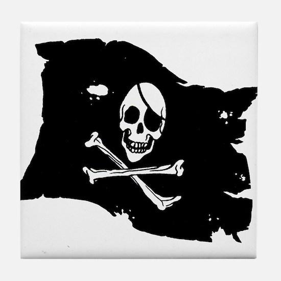 Pirate Flag Tattoo Tile Coaster