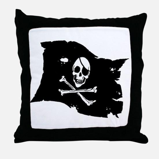 Pirate Flag Tattoo Throw Pillow