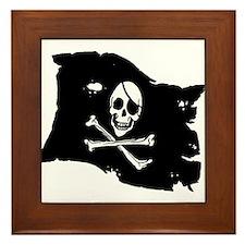 Pirate Flag Tattoo Framed Tile