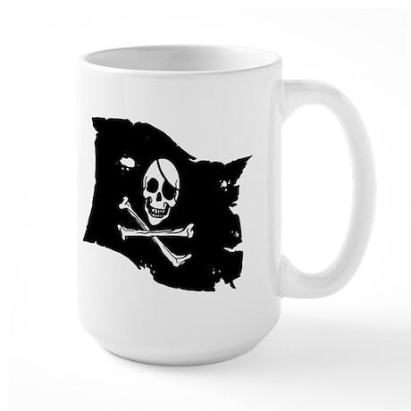 Pirate Flag Tattoo Large Mug