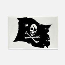 Pirate Flag Tattoo Rectangle Magnet (100 pack)