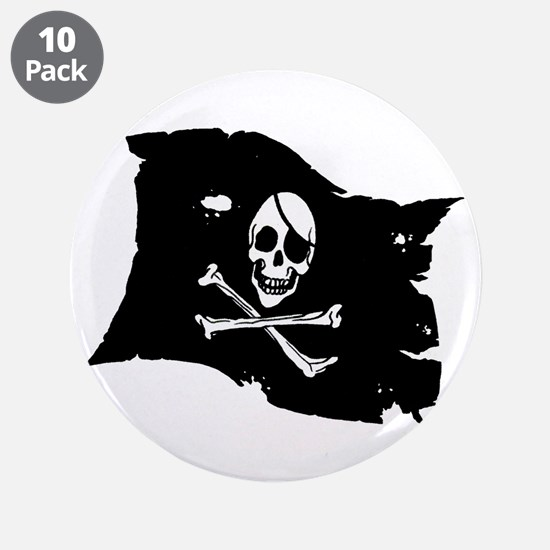 "Pirate Flag Tattoo 3.5"" Button (10 pack)"