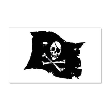Pirate Flag Tattoo Car Magnet 20 x 12