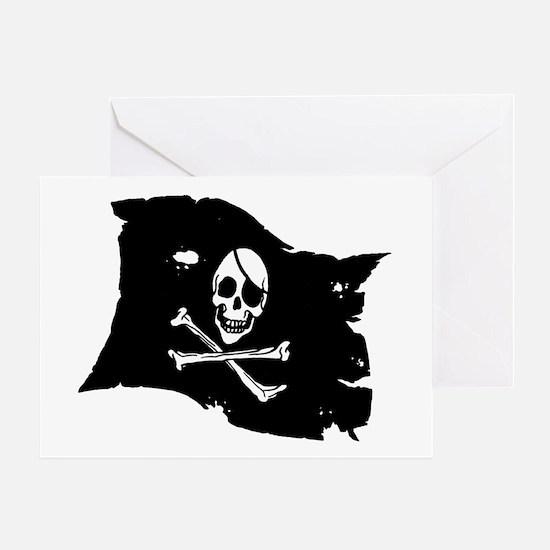 Pirate Flag Tattoo Greeting Card