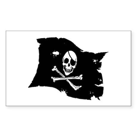 Pirate Flag Tattoo Sticker (Rectangle 50 pk)