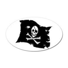 Pirate Flag Tattoo 22x14 Oval Wall Peel