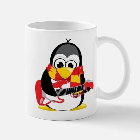 Electric Guitar Penguin Scarf Mug