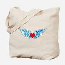Winged Heart Tattoo Tote Bag