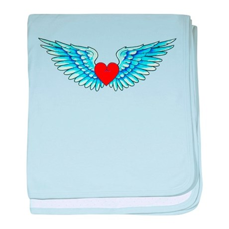 Winged Heart Tattoo baby blanket
