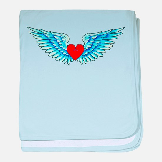 Winged Heart Tattoo baby blanket