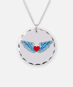 Winged Heart Tattoo Necklace