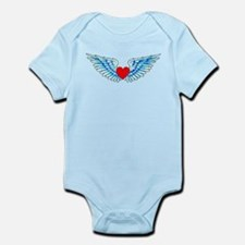 Winged Heart Tattoo Infant Bodysuit