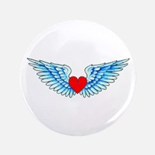"""Winged Heart Tattoo 3.5"""" Button (100 pack)"""