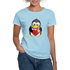 LGBTQ Pride Penguin Scarf T-Shirt