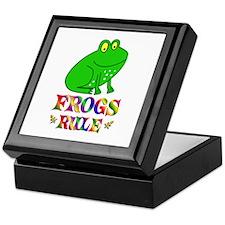 Fun Frogs Rule Keepsake Box