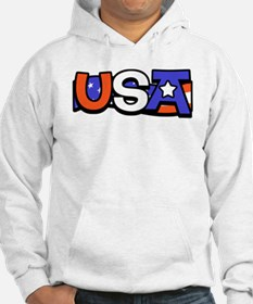 Red White & Blue USA Jumper Hoody