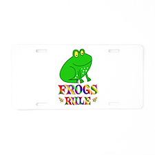 Fun Frogs Rule Aluminum License Plate