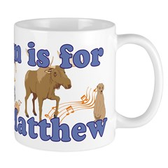 M is for Matthew Mug