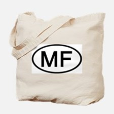 MF - Initial Oval Tote Bag