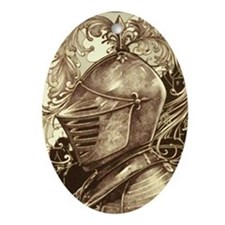 Knight Ornament (Oval)