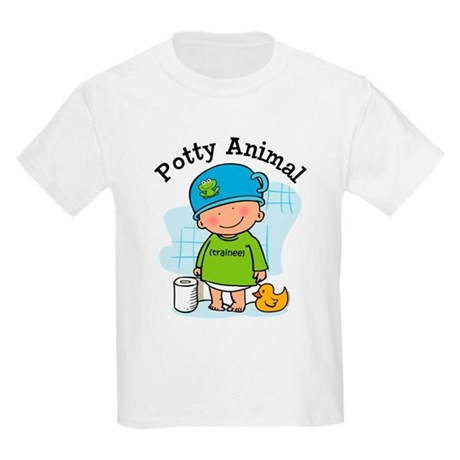 Potty Animal Boy Kids Light T-Shirt