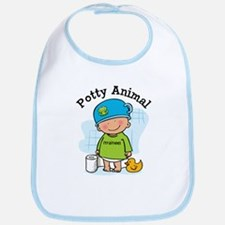 Potty Animal Boy Bib