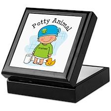 Potty Animal Boy Keepsake Box