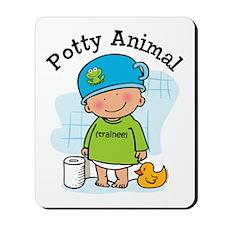 Potty Animal Boy Mousepad