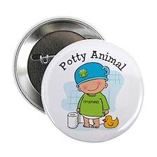 "Potty Animal Boy 2.25"" Button"