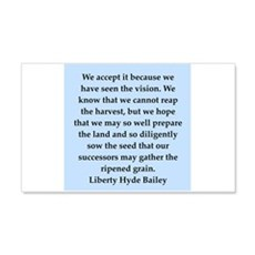 liberty hyde bailey quote 22x14 Wall Peel