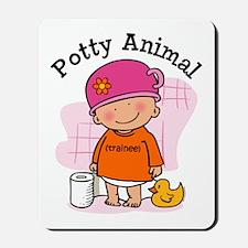 Potty Animal Girl Mousepad