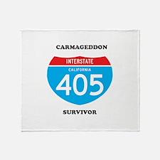 interstate 405 survivor Throw Blanket