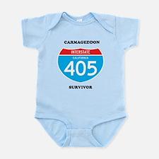 interstate 405 survivor Infant Bodysuit