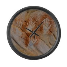 Red Handprints Large Wall Clock