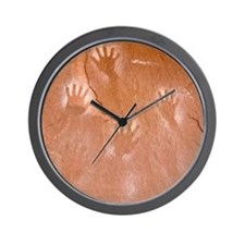 Handprints Pictograph Wall Clock