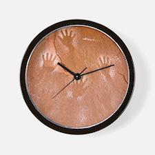 Handprints Pictograph Wall Clock