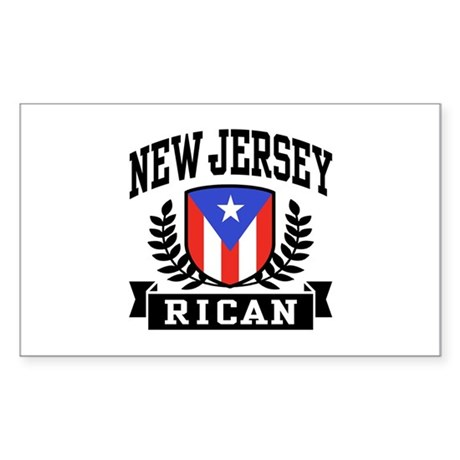 New Jersey Rican Sticker (Rectangle)