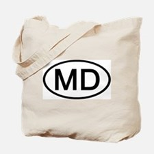 MD - Initial Oval Tote Bag