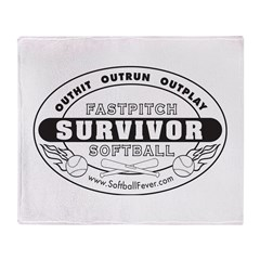 Softball Survivor Throw Blanket