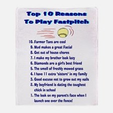 Fastpitch Top 10 Throw Blanket