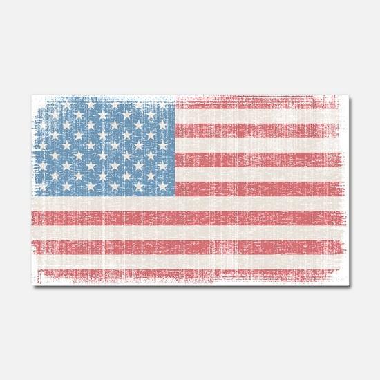 Vintage American Flag Car Magnet 20 x 12