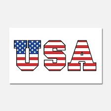 USA [stars&stripes] Car Magnet 20 x 12