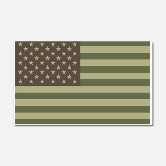 Camo American Flag Car Magnet 20 x 12
